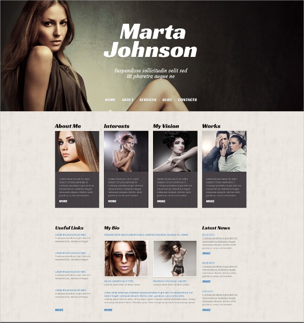 Fashion Designer WordPress Theme $75