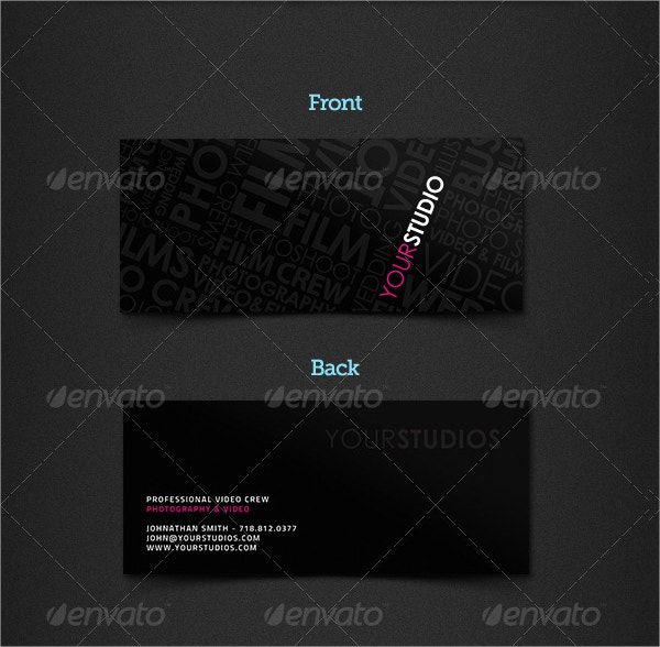 Slim Cut Spot UV Business Card