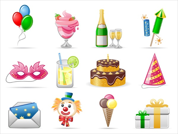 Birthday Theme Icons