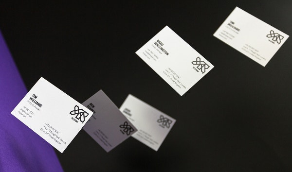 printed spot uv business cards