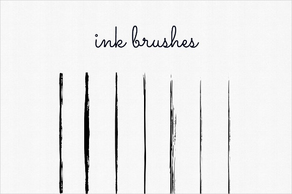 illustration hand drawn ink brushes
