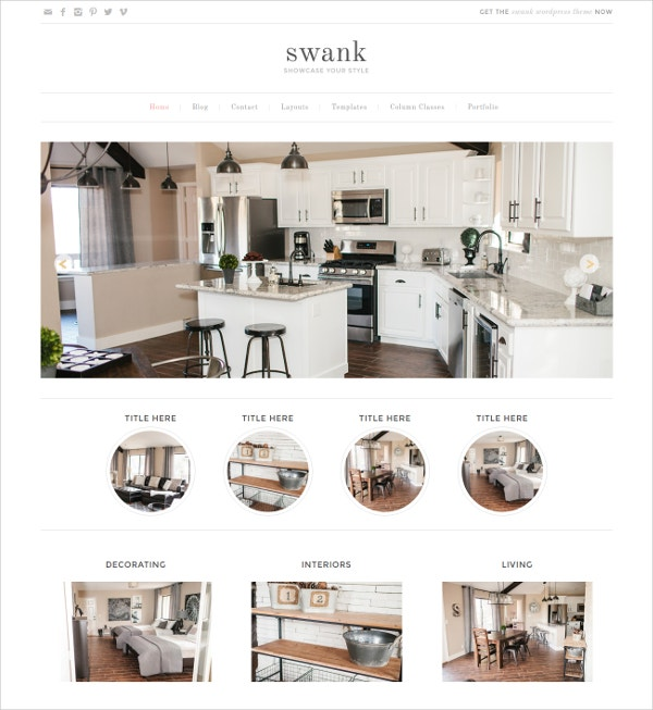 Beautiful Interior Designer WordPress Theme $49