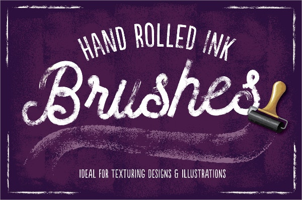 versatile hand rolled ink brushes