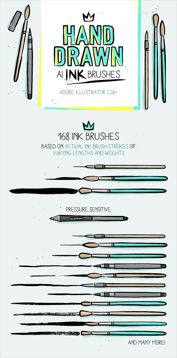 12+ Ink Brushes - Free ABR, EPS, AI, JPEG Format Download | Free