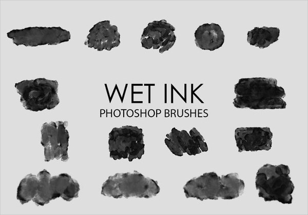 wet ink brush for photoshop