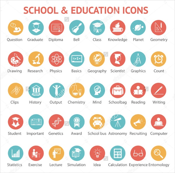 round education icons