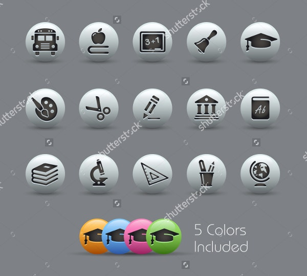 color education icons