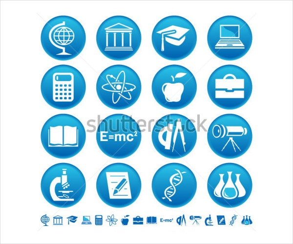 science education icon set