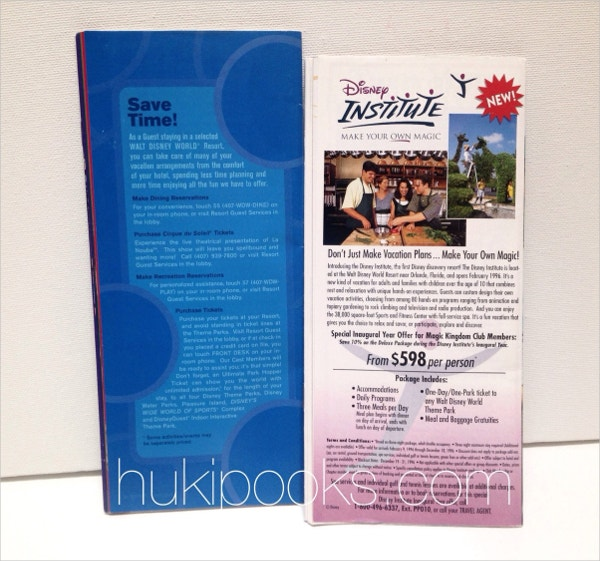 Single Page Club Brochure