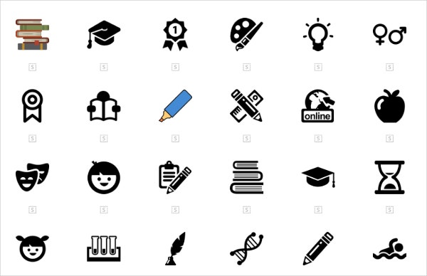 250 education icons