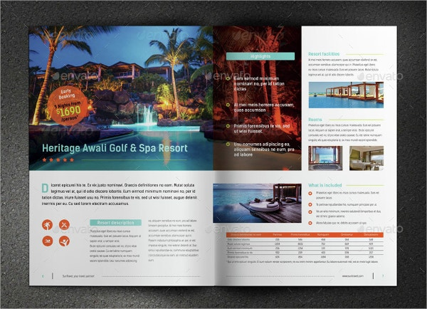 One Page Holiday Brochure Template