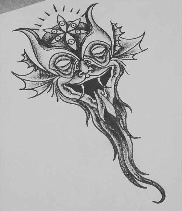 Demon Tattoo Drawing