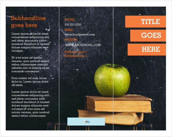 Education One Page Brochure