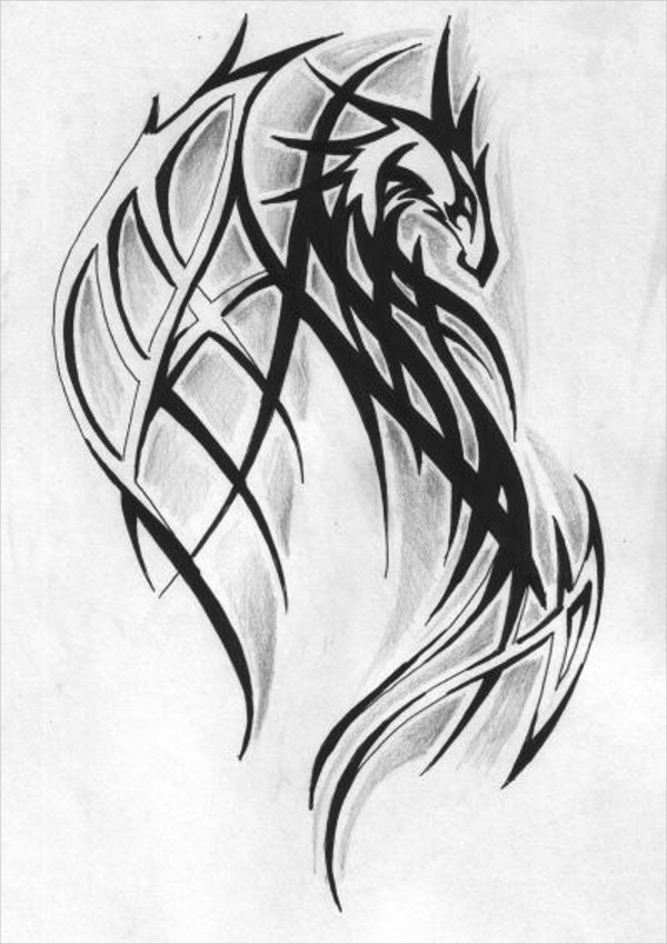 Dragon Tattoo Drawing