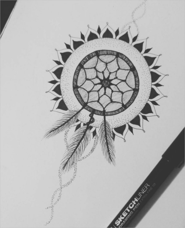 Zentangle Tattoo Drawing