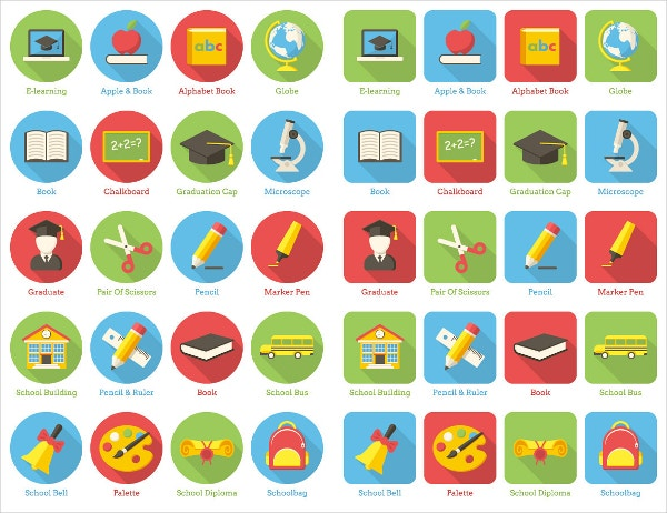 modern vector education icons