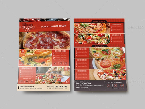 Free Pizza Menu Template - Apigram.Com