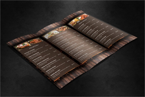 Woodstock Takeaway Menu Template
