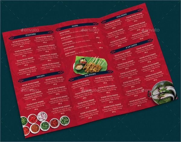 Restaurant Takeaway Menu Template