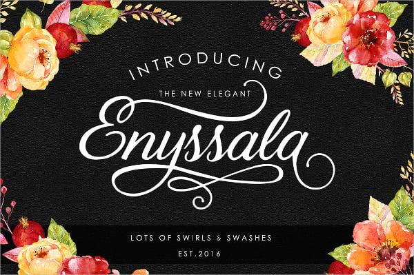Enyssala Script Font