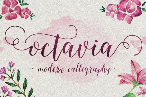 Octavia Calligraphy Script Font