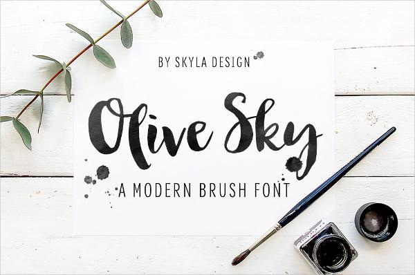 Modern Brush Script Font