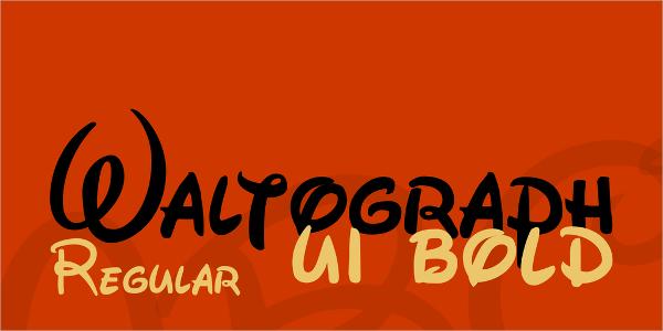 Waltograph Disney Script Font