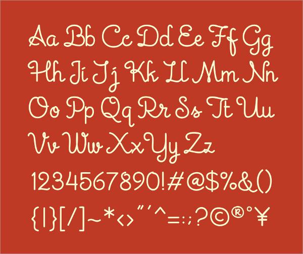 Tinta Cursive Script Font
