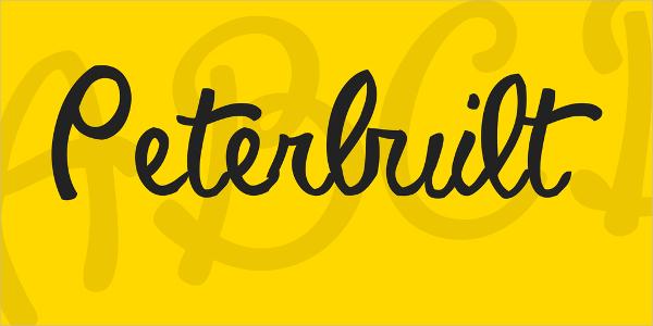 Peterbuilt Script Font