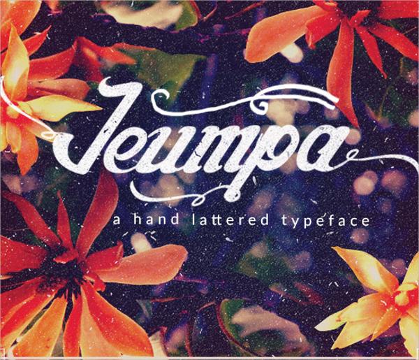 Jeumpa Modern Script Font