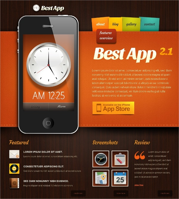 Premium Mobile Apps Drupal Website Template $67