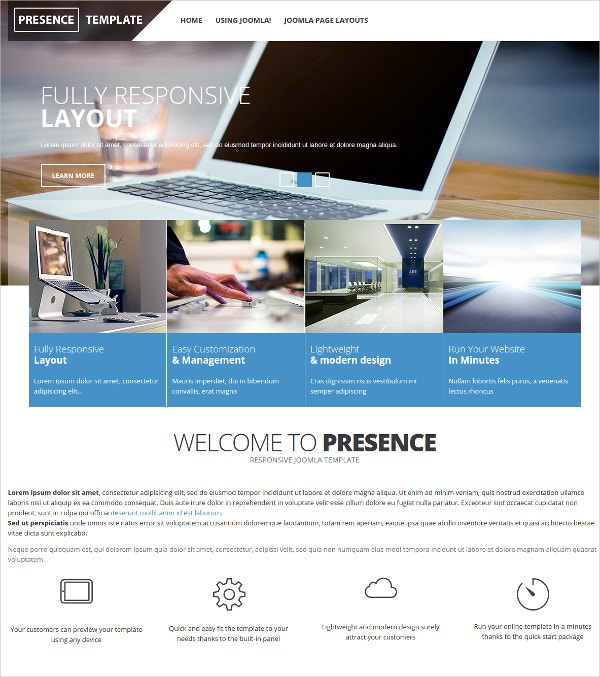 Corporate & Mobile Friendly Joomla Template $39