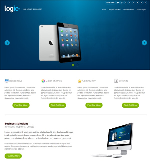 Mobile Friendly & Mobile Joomla Template for Business $39