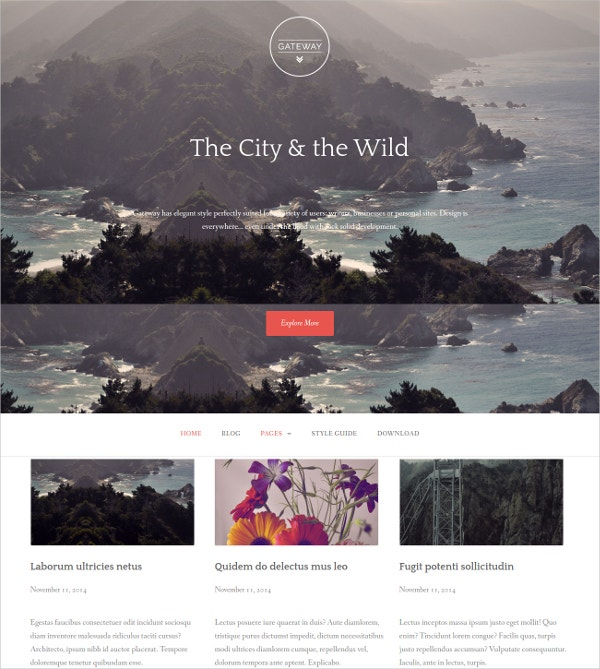 elegant and free mobile wordpress website theme1