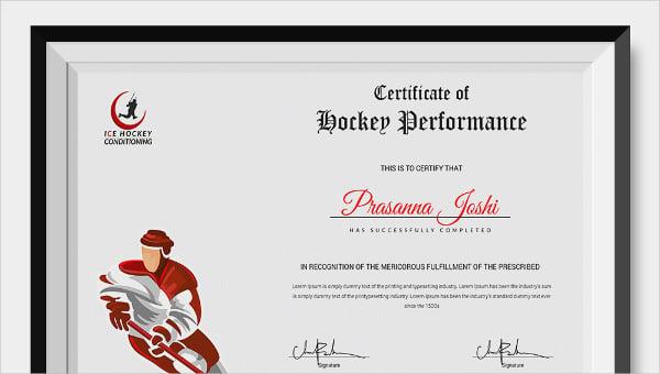 hockeycertificate