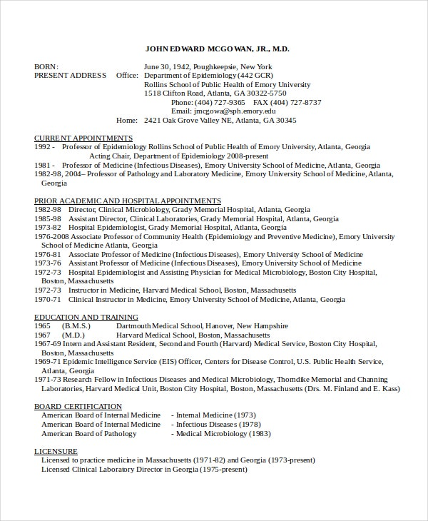 clinical microbiologist resume