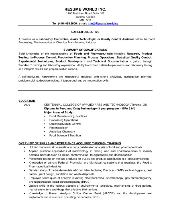 Microbiologist Resume Template   Free Word Pdf Document