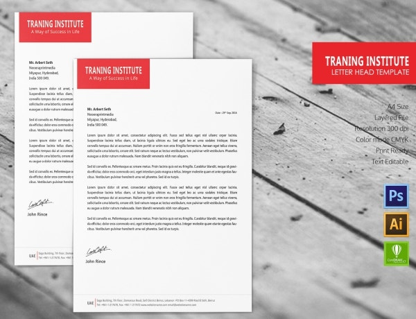 Training Institute Letterhead Template
