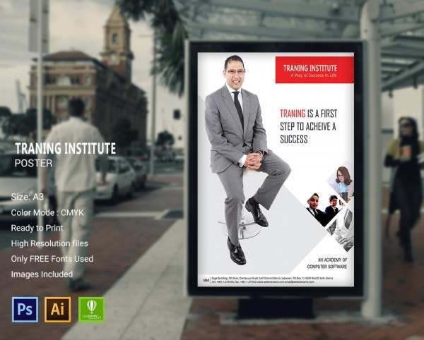 Training Institute Poster Design Template