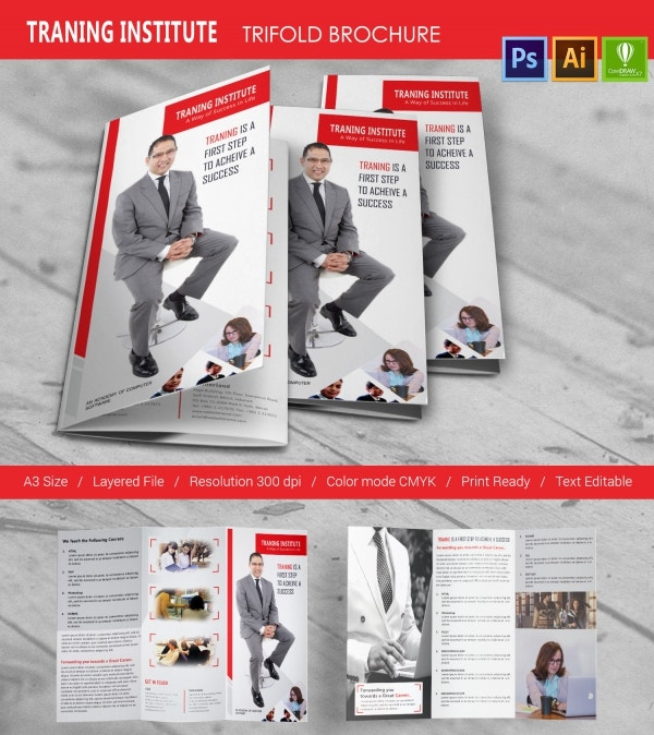 Training Institute Tri-Fold Brochure Template