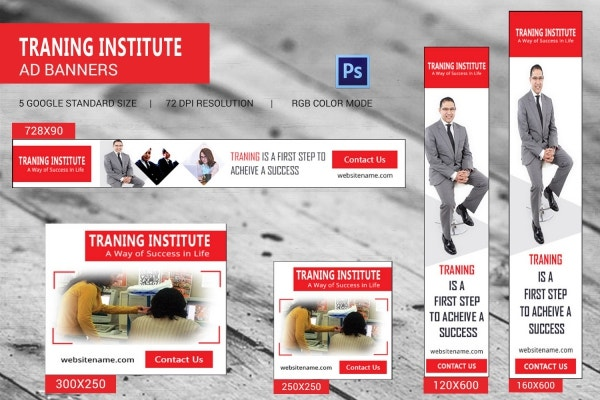 Training Institute Ad Banner Template