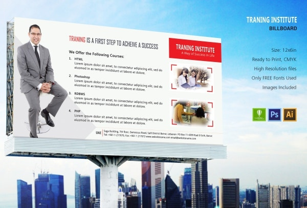 Training Institute Billboard Template