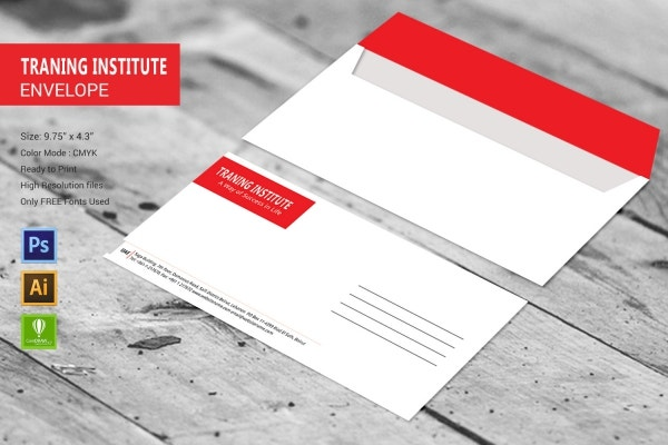 Training Institute Envelope Template