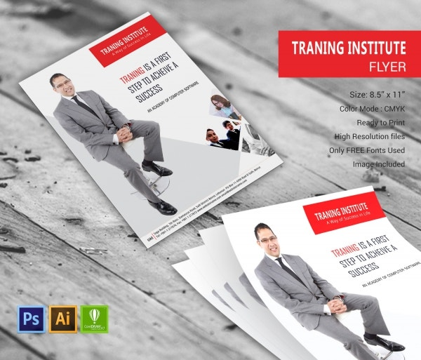 Training Institute Flyer Design Template