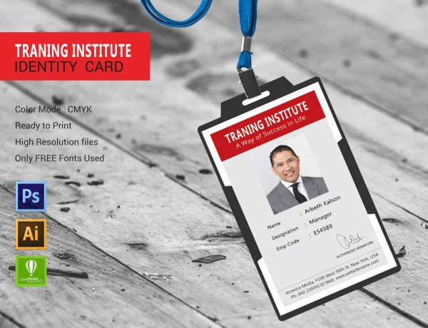 Training Institute ID Card Template