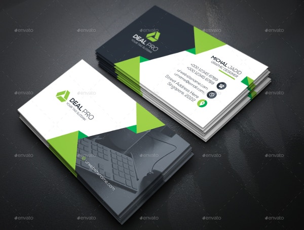 18 information technology business cards free psd ai vector eps creative business card template flashek