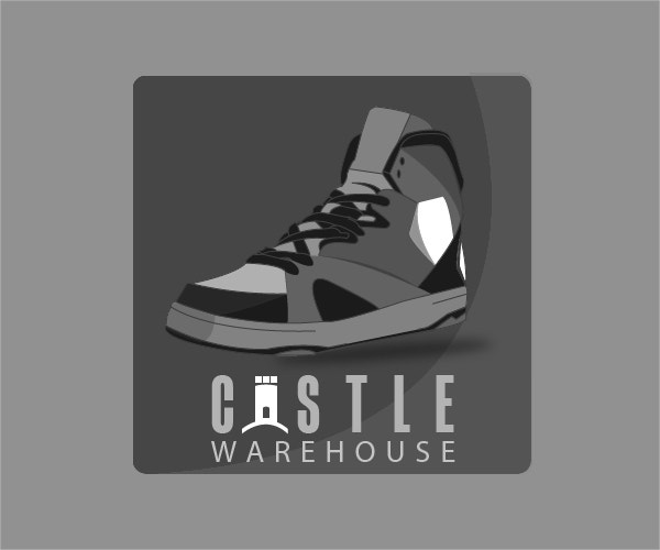 Castle Warehouse Shoe Logo Design