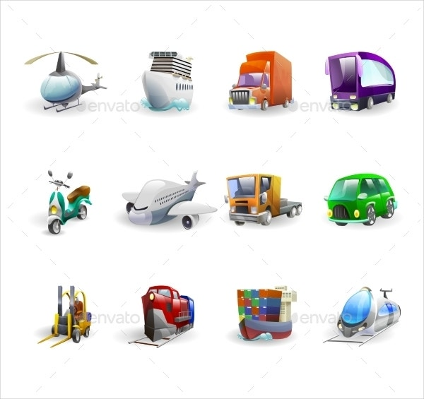 Transportation & Delivery Icons