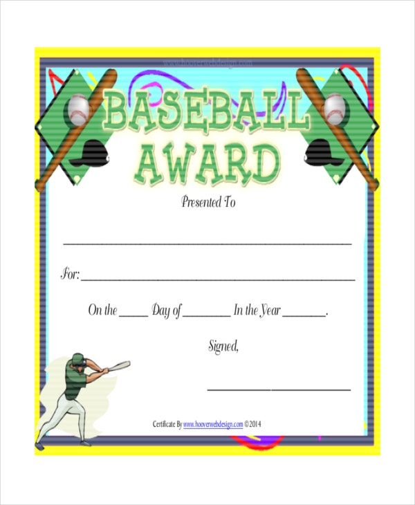 T-Ball Certificate Template - 5+ Free Word, Pdf, Documents