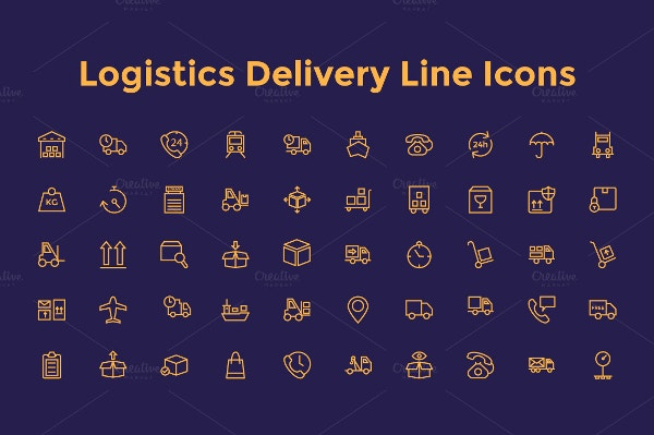 Logistic Delivery Icons